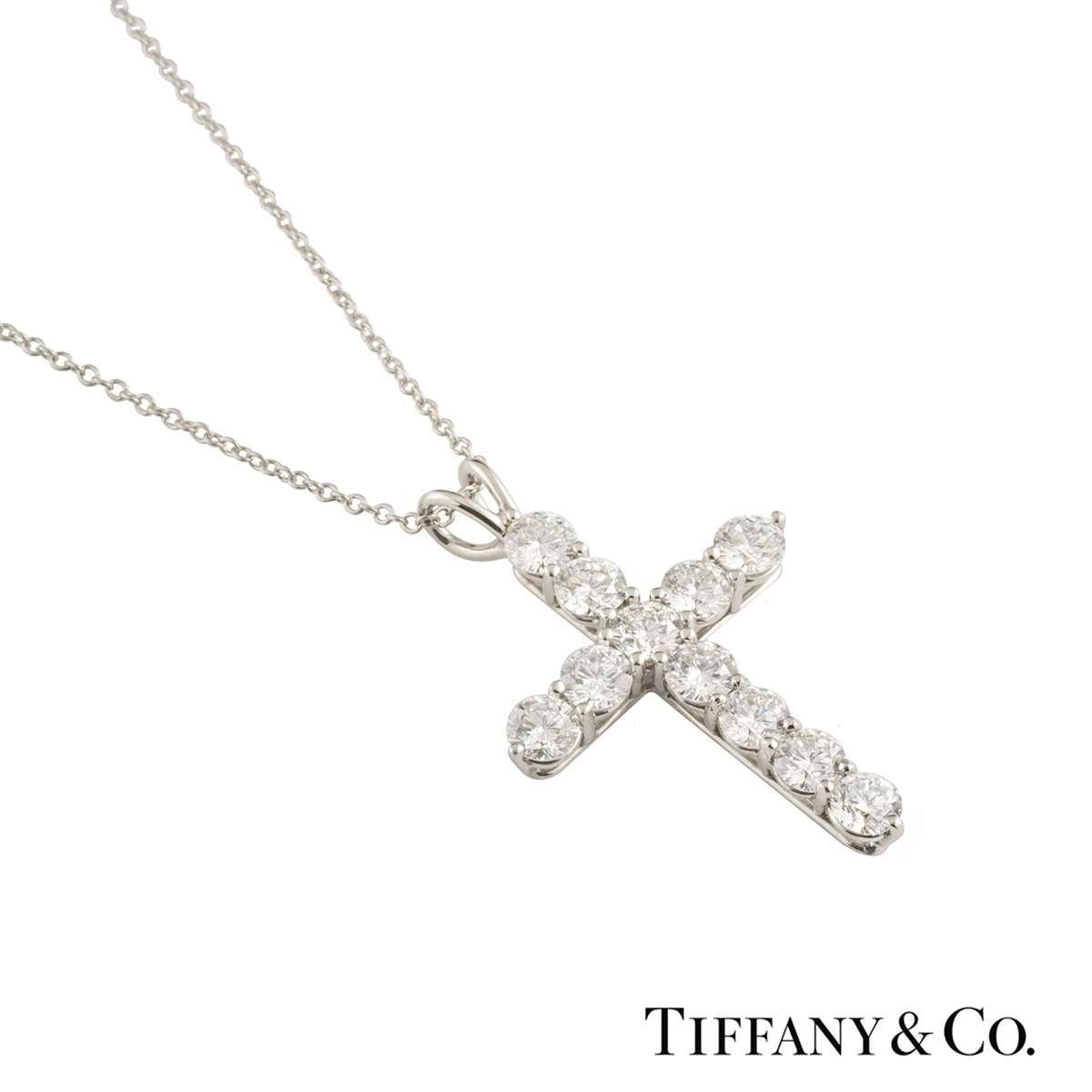 Tiffany & Co. Diamond Cross Pendant 1.65ct